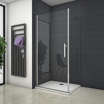 90 x 70 cm de ducha mampara de ducha de puerta de cristal ducha de ...