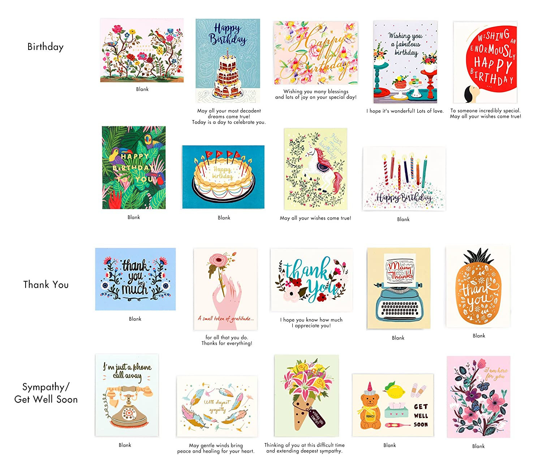 Minimalmart All Occasion Premium Greeting Cards Assortment Box