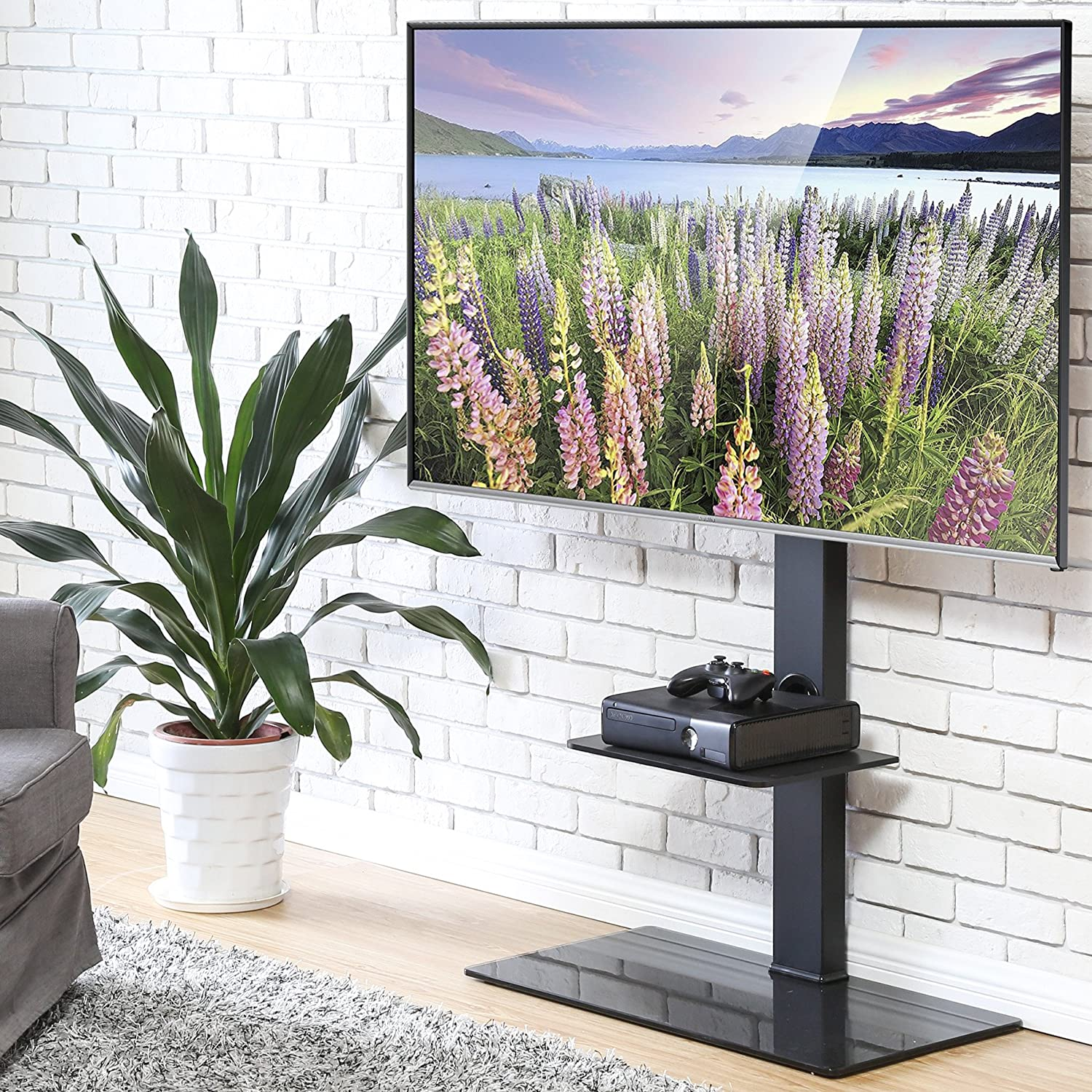 FITUEYES Cantilever TV Stand with Swivel Bracket for 32-65 inch LCD LED TT307001MB TT307001MBUK