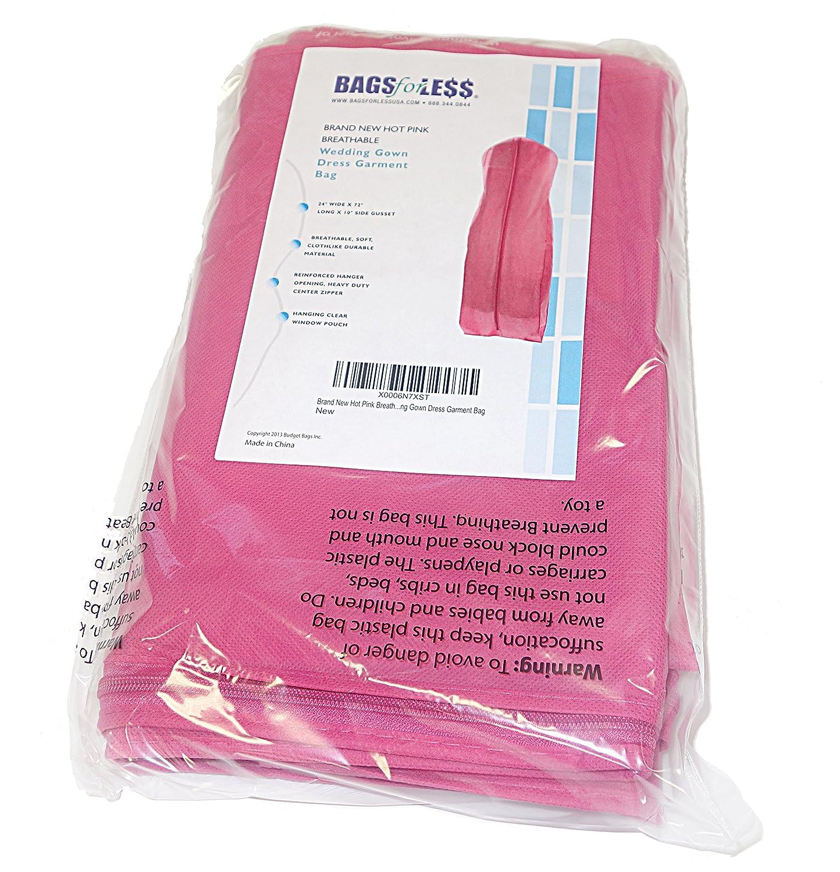 Amazon.com: Pink Wedding Gown Travel Storage Garment Bag Breathable ...