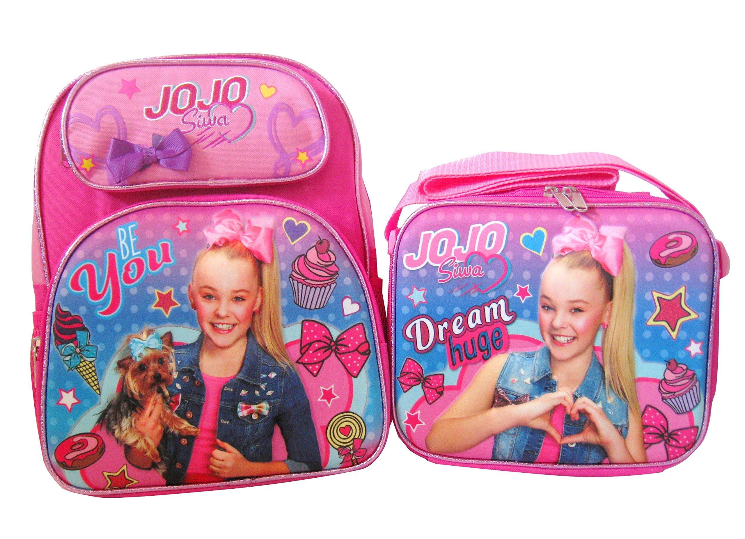 JoJo Siwa 3D 12'' Backpack and Lunch Box Set