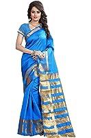 Vatsla Enterprise Women's silk Saree (VKERYMOR001SKYBLUE_SKYBLUE)