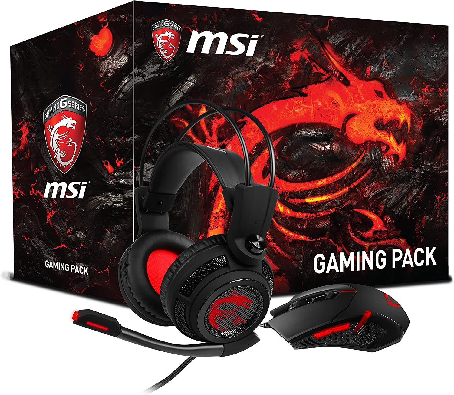 MSI 956 de b907 – 102 Gaming de Auriculares ds502 con Interceptor Ratón (Gaming de Pack) Negro: Amazon.es: Informática