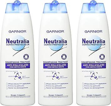 Garnier - Neutralia Dermo Protector - Tratamiento Anticaspa Shampoo - 3 Pack: Amazon.es: Salud y cuidado personal