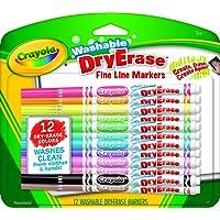 Crayola Washable Dry-Erase Markers, 12 Count