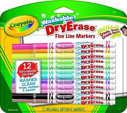 amazon com crayola washable dry erase markers toys games