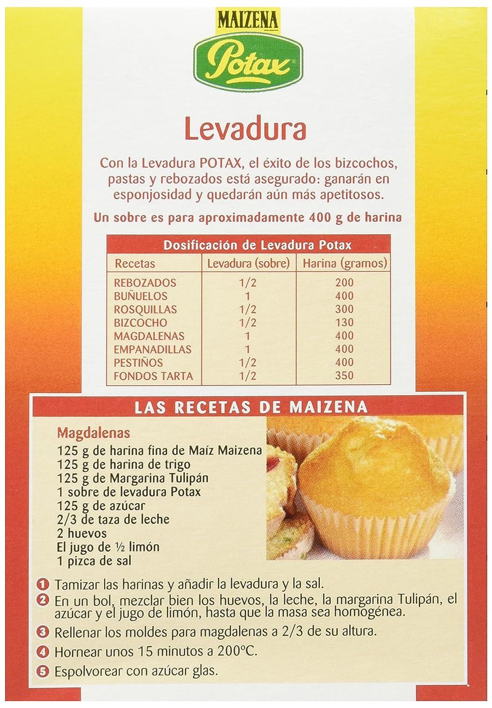 Maizena Potax Levadura, 4 Sobres - [Pack de 14]: Amazon.es: Alimentación y bebidas