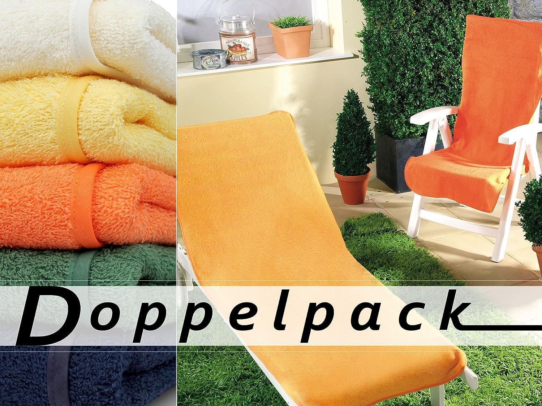 Doppelpack Dyckhoff Schonbezug für Gartenmöbel Liegenbezug 70 x 200 cm grün