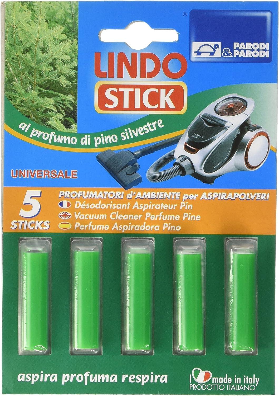 Parodi & Parodi Lindo Stick Desodorante Aspiradora Pino 5 Unidades, Tela, Verde, 11 x 17 x 1 cm, 5 Unidad: Amazon.es: Hogar