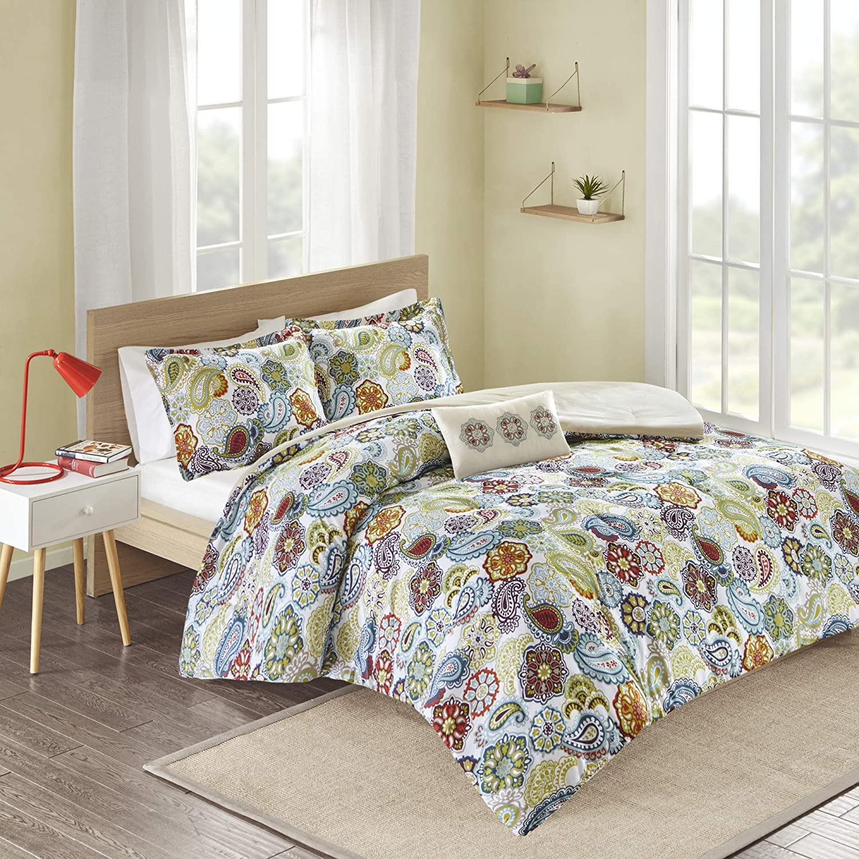 MI ZONE Tamil Comforter Set Color: Multi, Size: King, Multicolor