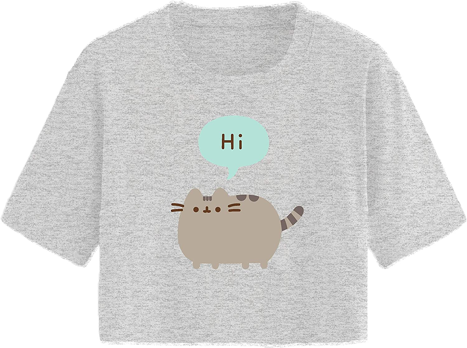 Pusheen Ladies The Cat Shirt The Cat Vintage Juniors Cropped Top T-Shirt