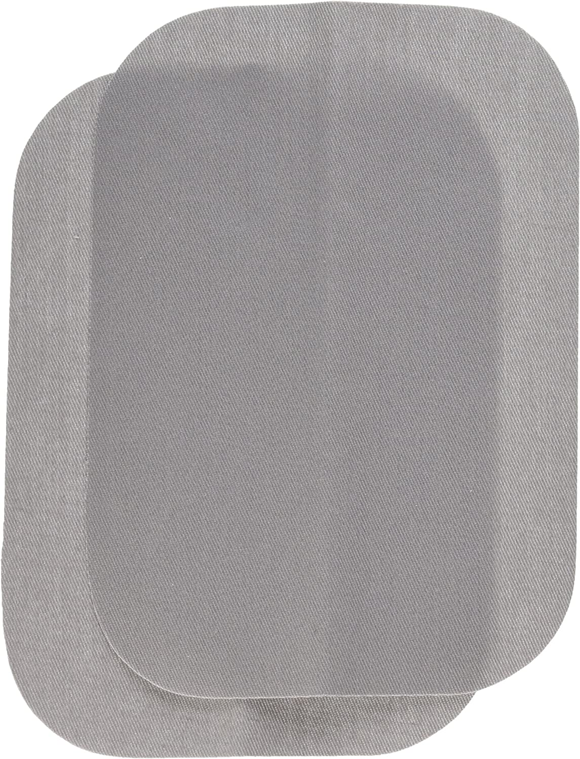 "Wrights BDX230-008.45 Bondex Iron-On Patches 5""X7"" 2/Pkg-Light Grey"