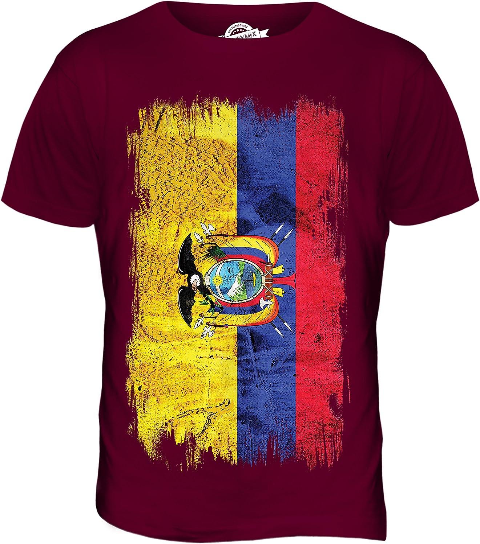 Ecuador Grunge Bandera - camiseta hombre Camiseta Top: Amazon.es ...