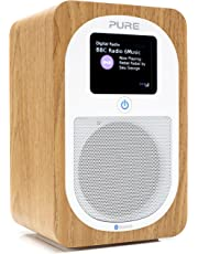 Pure Evoke H3 Portable DAB/DAB+/FM Radio with Bluetooth, Dual Alarms and Full Colour Display - Oak