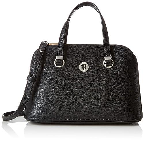 664999fec2 Tommy Hilfiger Th Core Med Satchel, Women's Cross-Body Bag, Black (Black