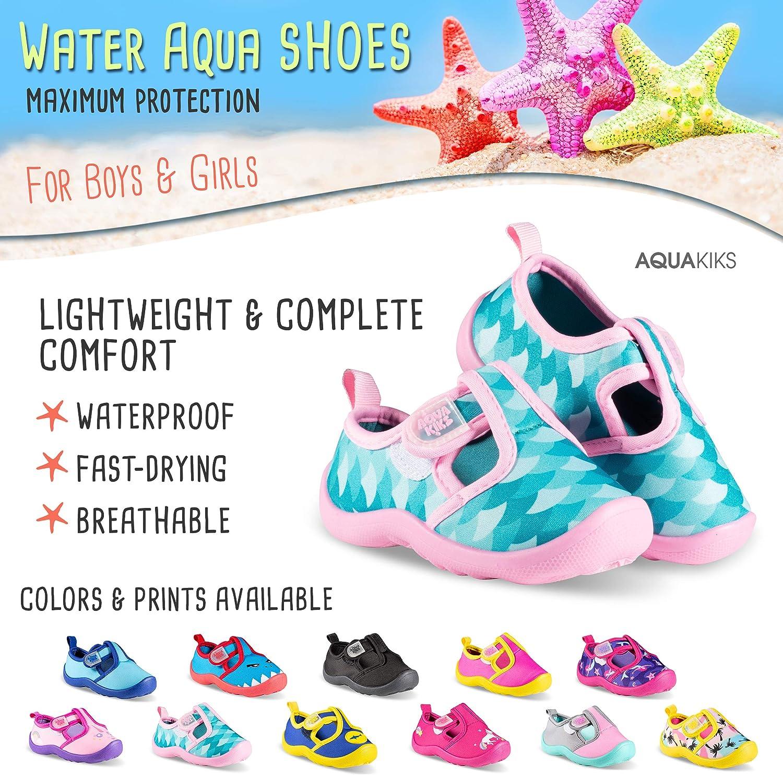 Kids Waterproof Sandals Aquakiks Water Aqua Shoes for Boys /& Girls
