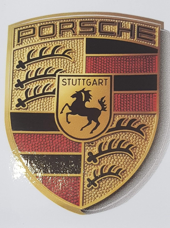 Porsche WAP013002 Adesivo Originale con Stemma 6,5 x 5 cm