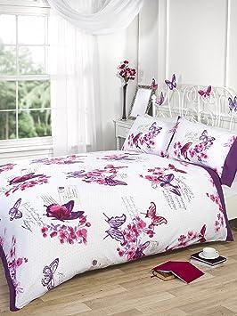 ropa de cama heaven diseo de mariposas de funda de edredn para cama doble