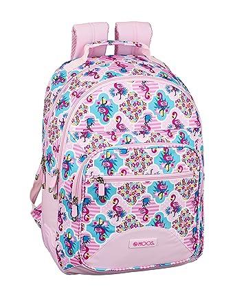 Moos Flamingo Pink Oficial Mochila Escolar 320x150x420mm: Amazon.es: Ropa y accesorios