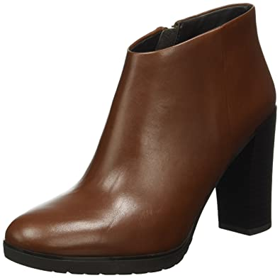 Geox D Raphal Mid D Marron - Chaussures Bottine Femme