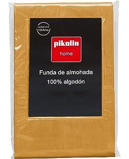 Pikolin Home - Almohadón, funda de almohada, 100% algodón, 40 x 150