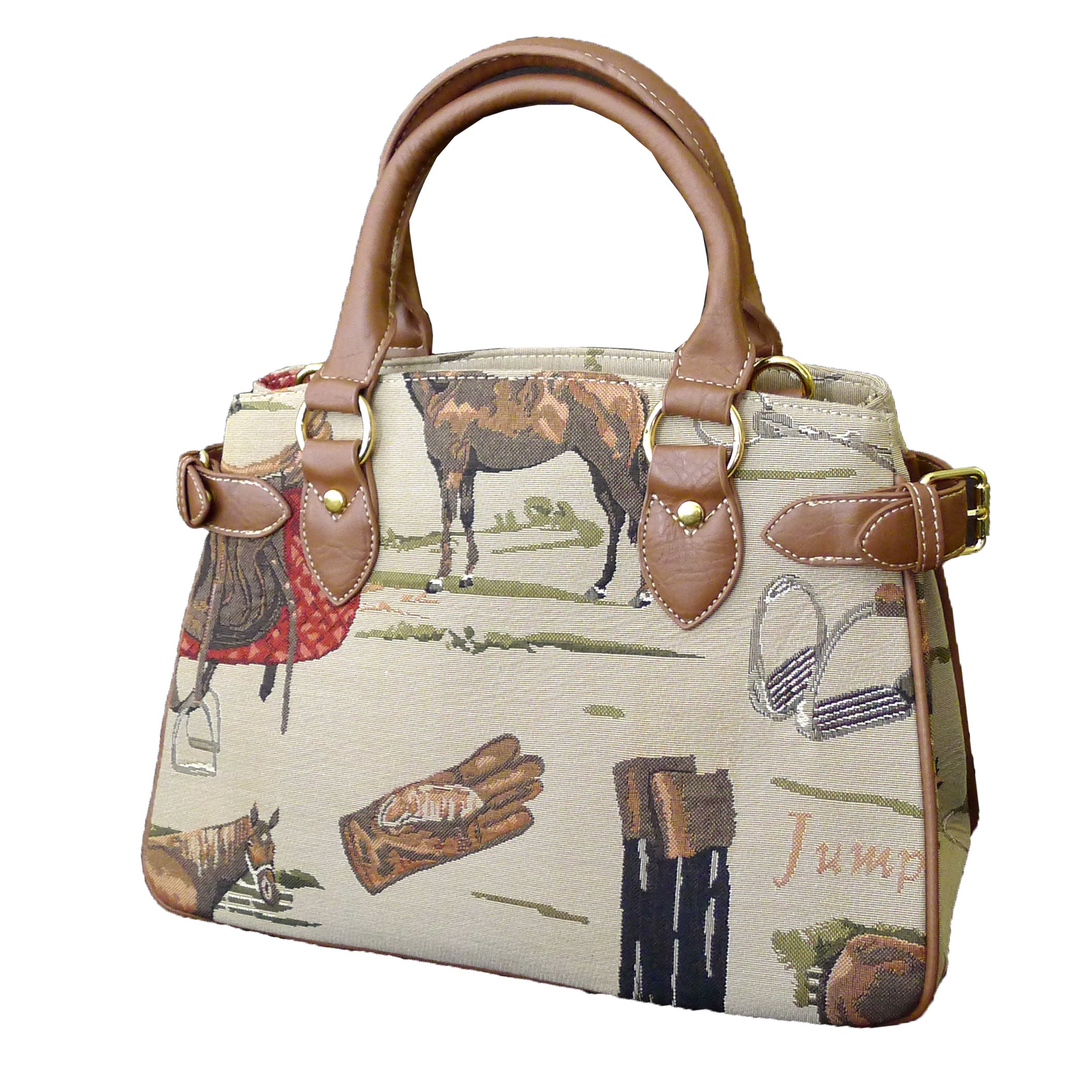 Signare 18873-Horse Horse Center Compartment Purse, Tapestry by Signare