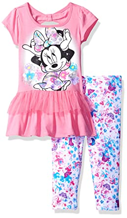 52f89991c026e Amazon.com: Disney Girls' 2 Piece Minnie Mouse Legging Set: Clothing