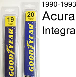 """product image for Acura Integra (1990-1993) Wiper Blade Kit - Set Includes 20"""" (Driver Side), 19"""" (Passenger Side) (2 Blades Total)"""