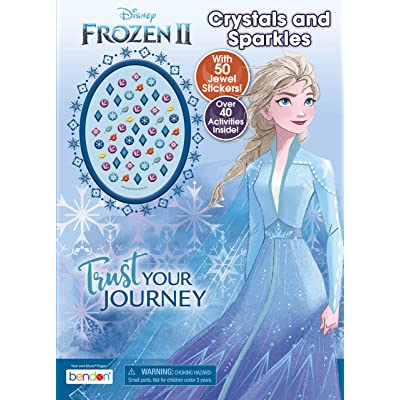 Disney Frozen 2 48-Page Activity Book with 50 Jewel Stickers 45822,Multicolor: Toys & Games