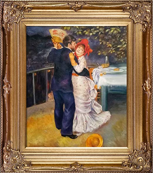 overstockArt Portrait of Children by Renoir with Renaissance Bronze Frame