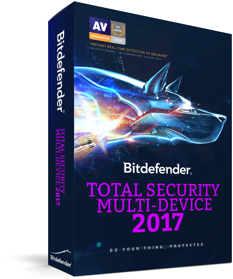 Bitdefender Total Security 2017, 5 Devices | 1 Year | PC, Mac,...