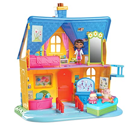 Amazon Com Doc Mcstuffins Clinic Doll House With Doll Toys Games