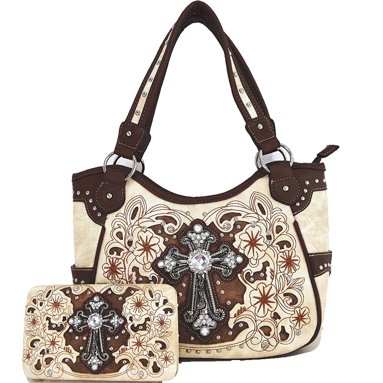 Womens PU Leather Fashion Bag Handbad Elegant Purse Classical Pattern