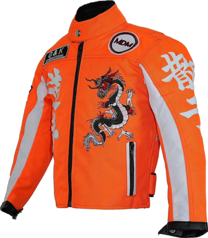 Mdm Kinder Racing Motorradjacke In Neon Orange Bekleidung