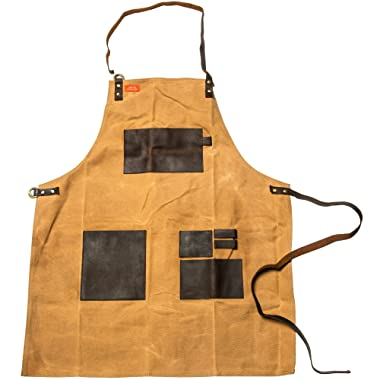 Traeger APP197 Canvas & Leather XL Brown Apron