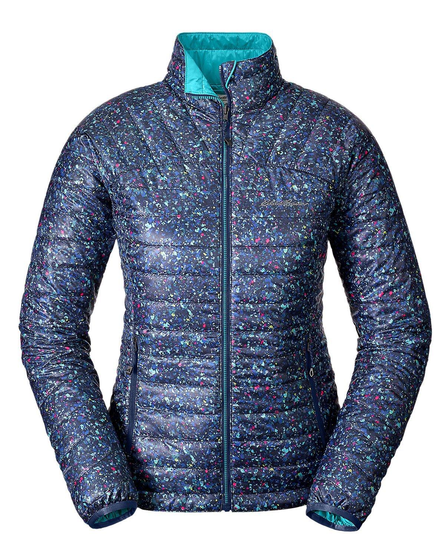 Eddie Bauer Women's IgniteLite Reversible Jacket, Aztec Blue Petite M