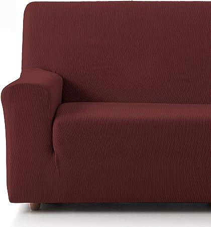 Oferta amazon: Eiffel Textile Funda Sofa Elastica Protector Adaptable Rústica Sofá 3 Plazas, 50% Poliéster, Rojo