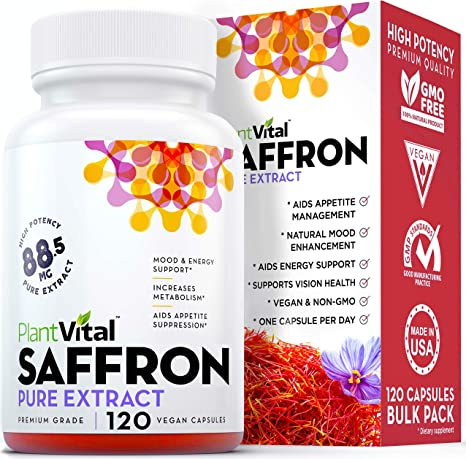 Amazon Com Saffron Supplement 100 Pure Saffron Extract