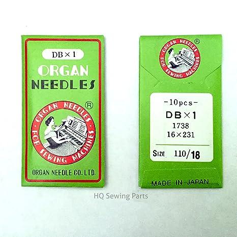 Máquinas de Coser Industrial ORGAN NEEDLES - DBX1-110/18