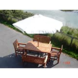2.5M Hardwood Parasol with Pulley (Natural)