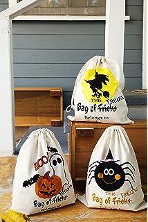 "6d8a014f41 Halloween Tote Bags 3 Pack - Partay Pumpkin Halloween Sacks 14"" x 17"" for"