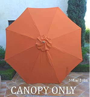 formosa covers replacement umbrella canopy for 11ft 8 ribs in terra canopy only