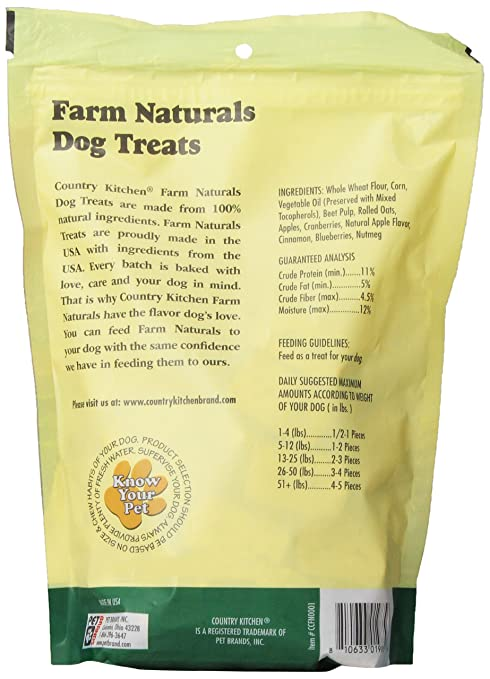 Com Country Kitchen Farm Naturals With Apple Dog Treats 16 Ounce Pet Supplies