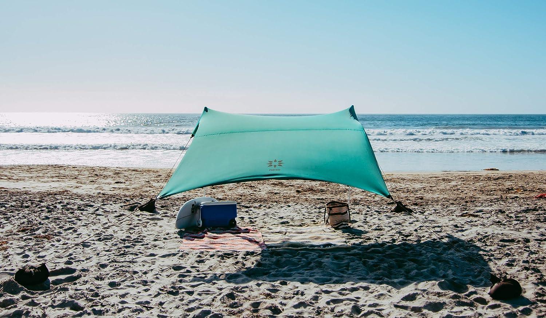 Color Esquinas reforzadas patentadas 2.1m x 2.1m Neso Tienda de campa/ña Tents Beach con Ancla de Arena toldo port/átil Sunshade
