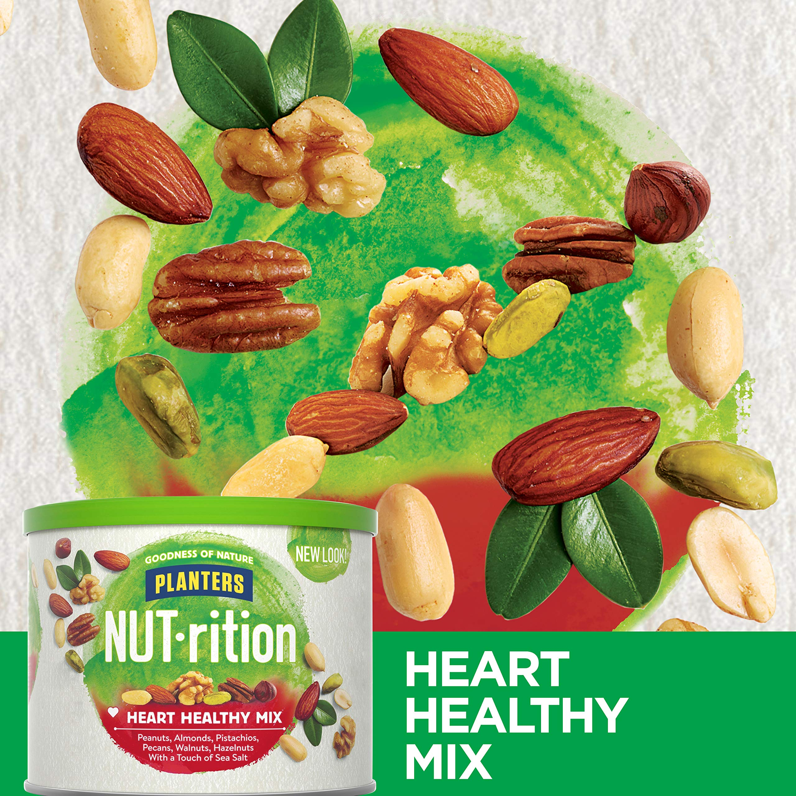 NUTrition Heart Healthy Snack Nut Mix (9.75oz, Pack of 3) by Planters (Image #6)