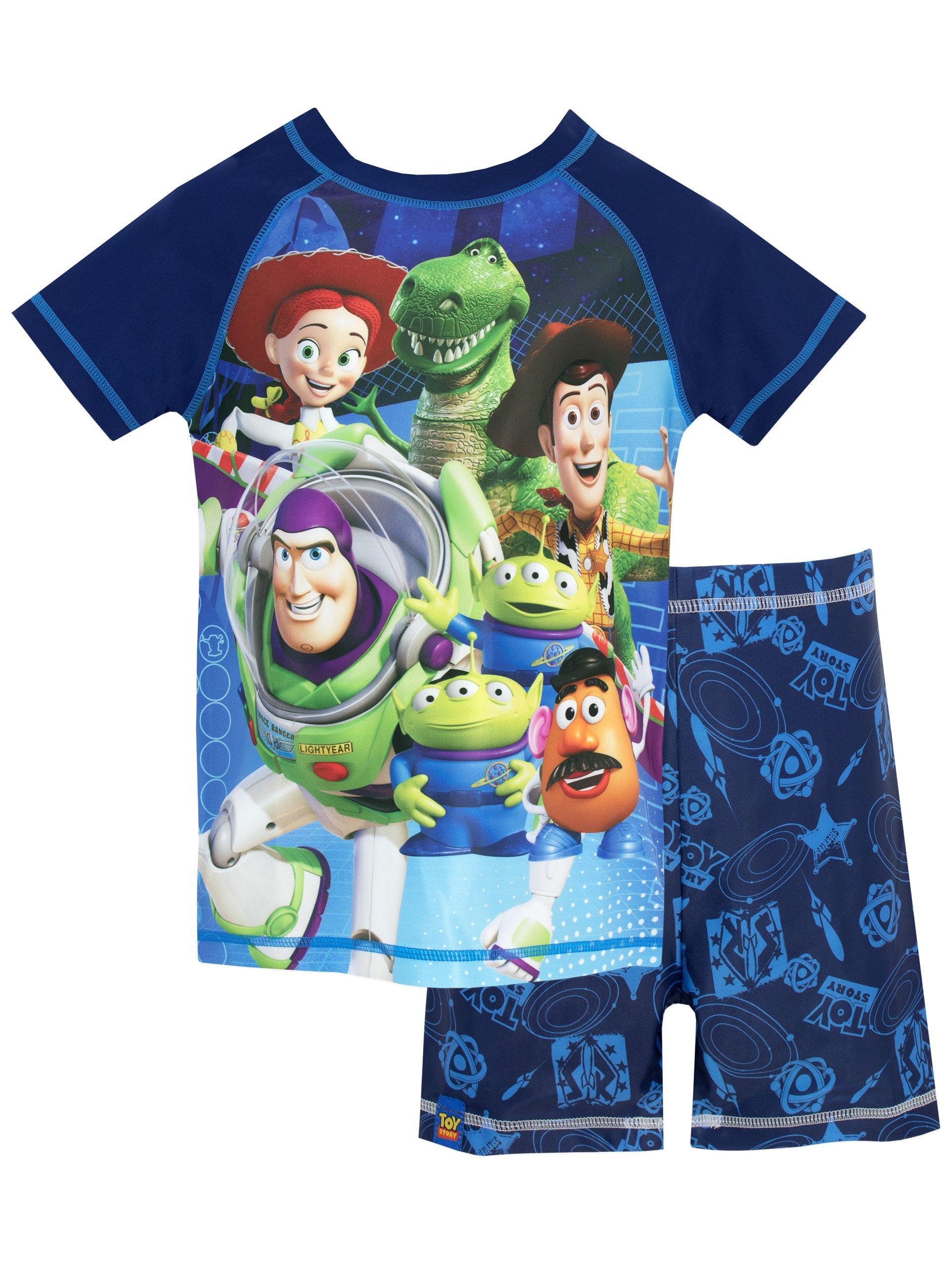 Disney Boys' Toy Story Two Piece Swim Set Size 4 Blue