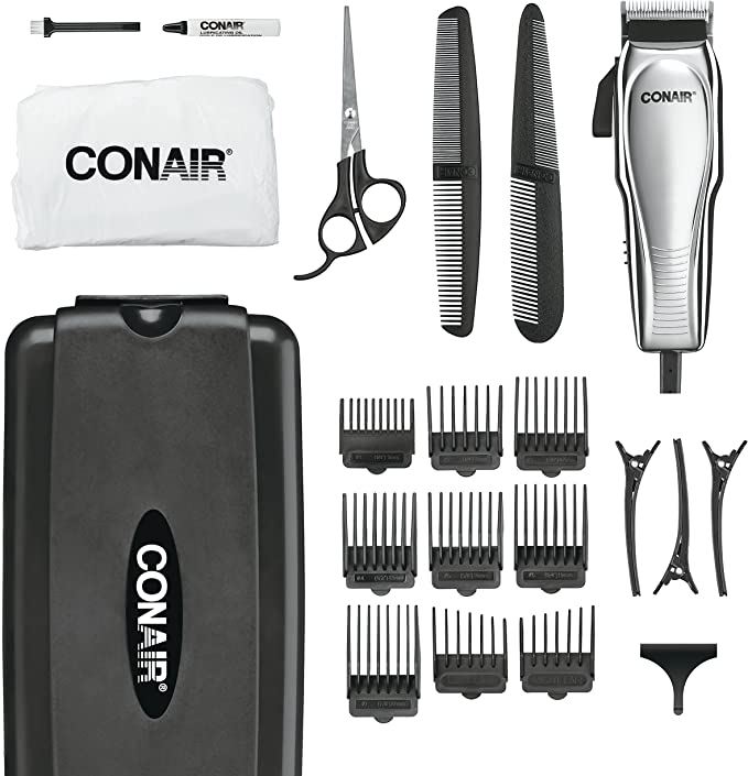 Conair Custom Cut 21-piece Haircut Kit; Home Hair Cutting Kit