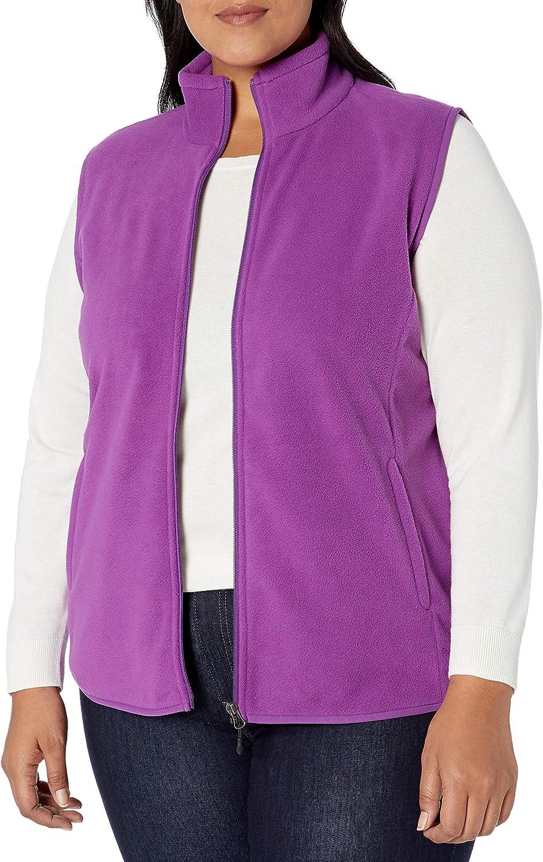 Essentials Gilet en Polaire avec Fermeture /Éclair Int/égrale Femme Outerwear-Vests