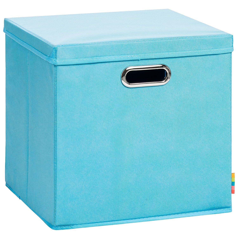 (Storanda) Aufbewahrungsbox LEA mit Deckel - Faltbox - Korb - 33x33x33 cm - (Anthrazit) Schmetsdorf