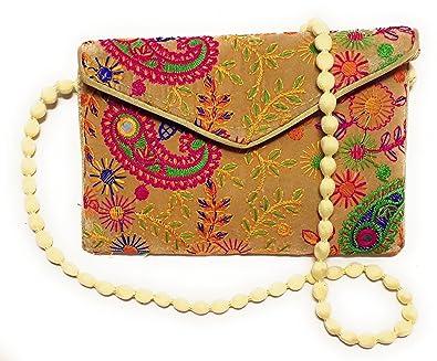 ca42d29ebdfa9 UNIQUE PRODUCT EMBROIDERED (Hand Made) Multi-Color Velvet Envelope ...